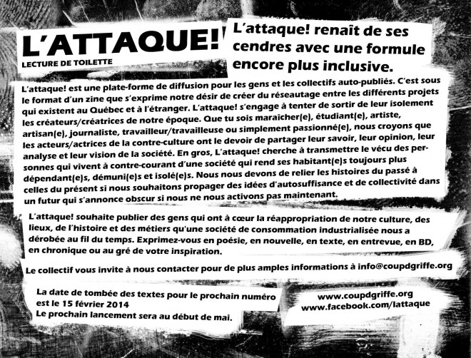 flyer appel de texte(e)